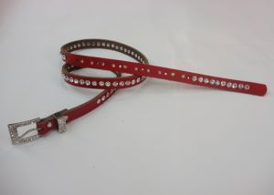 Rhinestone Leather Belts (GL004)