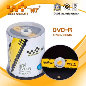 Grade a/Virgin Material Disc Printable DVD-R 16x, 4.7GB, 120min