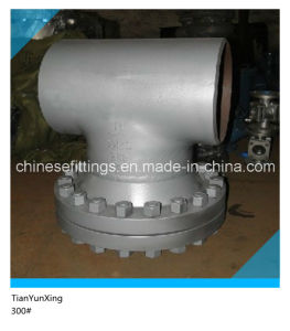 Butt Weld 300# Carbon Steel Tee Type Strainer Valve pictures & photos