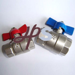 Ce Approved Brass Ball Valve with Butterfly Handle or Steel Long Lever Handle pictures & photos