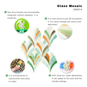 Wholesale American Designs Green Stained Glass Mosaic Tile for Bathroom pictures & photos