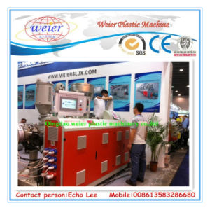 PE-WPC Decking Co-Extrusion Line with Online Type Embossing Roller pictures & photos