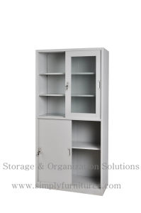Metal Filing Storage Cabinet with Sliding Door pictures & photos