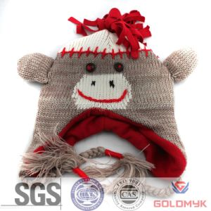Kids Funny Animals Beanie with Fleece Lining pictures & photos