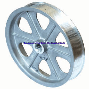 Flat Belt Pulleys/Belt Pulley with Aluminum Alloy Die Casting pictures & photos