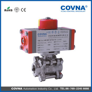 Threaded Stainless Steel Pneumatic Ball Valve with Best Price pictures & photos