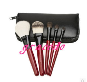 5 PCS Red Color Makeup Brush Set with Bag (YMF395)