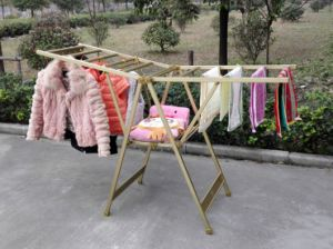 High Quality Aluminum Alloy Multi-Function Wing Type Folding Clothes Drying Rack pictures & photos