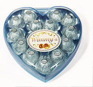 16 Pieces Blue Heart Chocolate (H16B)