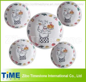 5PCS Porcelain Pasta Bowls & Salad Plate (PB0128) pictures & photos