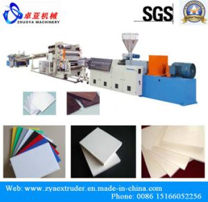 Three Canlender PVC Free Foam Board Plastic Extruder Machine pictures & photos