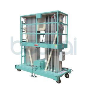 Double Masts Aluminium Hydraulic Lift for Aerial Work pictures & photos