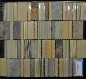 New Design Building Material Glass Mosaic Tile for Wall (MBS001)