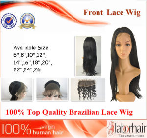 Brazilian Virgin Hair Front Lace Wigs (26Inch-Straight) pictures & photos