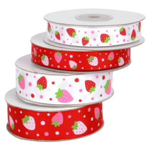 Strawberry Grosgrain Ribbon pictures & photos