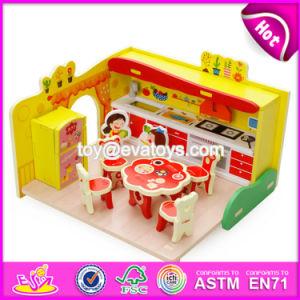 New Design Children Pretend Play Wooden DIY Kitchen Toy W03b058 pictures & photos