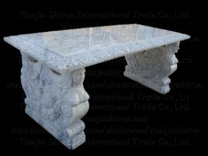 White Marble Table (BNH331) pictures & photos