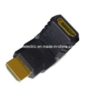 180 Degree Male to Female HDMI Adapter pictures & photos