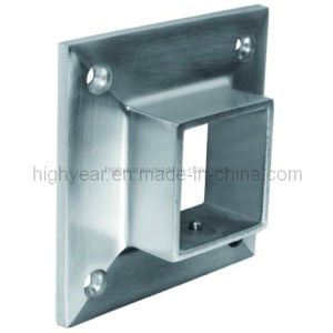 Square Flange for Square Fitting Against Stainless Steel Railing