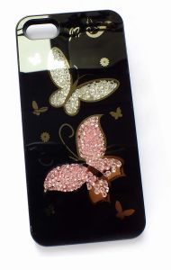 Shining Double Butterflies Cell Phone Cover