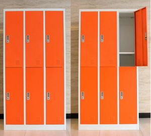 Dorm Metal Storage Cabinet with 6 Doors pictures & photos