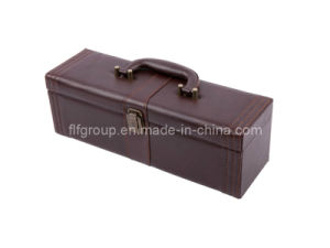 Delicate Classical Design Portable Leather Wine Box (FG8017) pictures & photos