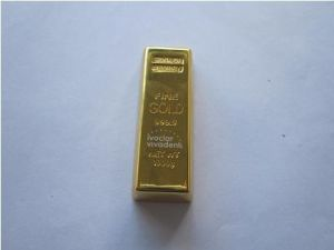 Popular Golden Bar Metal USB Flash Drive (OM-M104) pictures & photos
