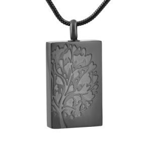 Stainless Steel Square Tree of Life Pendant Necklace Cremation Jewelry pictures & photos