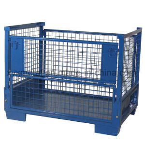 Euro Collapsible Wire Mesh Container Pallet Stillage pictures & photos