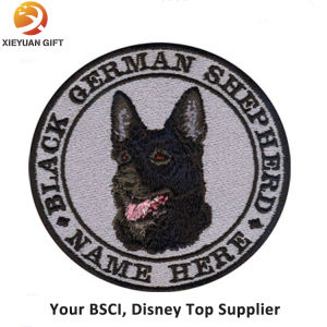 Exquisite Fine Detail Animal Dog Embroidery Badge pictures & photos