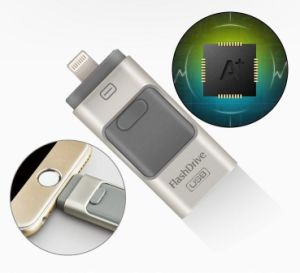 OTG Micro USB Flash Drive 8GB 16GB 32GB 64GB for iPhone 6 6s Plus 5 5s iPad Pen Drive pictures & photos