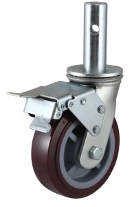 Swivel PU Scaffold Caster Wheel pictures & photos