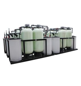 Continuous 24 Hours Water Output Double Tank Water Softener pictures & photos