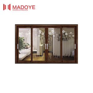 Modern Design Low Price Sliding Door with Decorative Grill pictures & photos