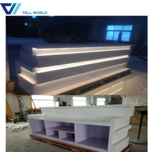 LED Hotel Artificial Marble Club Bar Counter pictures & photos