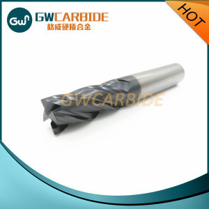 Carbide End Mill Cutter 4 Flutes HRC45-68 pictures & photos