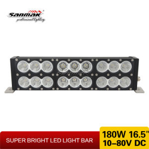 "16.5"" 180W Double Rows White & Amber LED Light Bar pictures & photos"