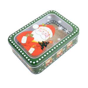Christmas Biscuit Gift PVC Window Tins pictures & photos
