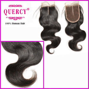 Beauty Cambodian Virgin Remy Hair Body Wave Silk Top Lace Closure (LC-024) pictures & photos