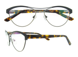 No MOQ Fashion Irregular Stainless Eyewear Frame for Ladies with Double Bridges pictures & photos