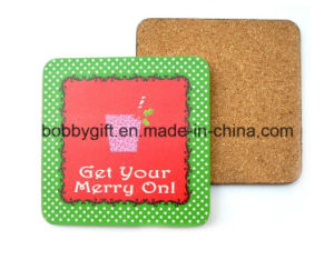 Colorful Printed Cup Coaster with Anti Slip Cork Base pictures & photos