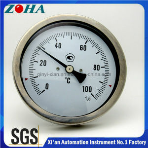 All Stainless Steel Bi-Metal Thermometer with Back Connection pictures & photos