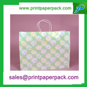 New Design White Kraft Paper Bag with Twisted Handle pictures & photos