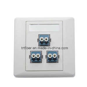 3 Port Duplex LC Fiber Optic Faceplate Adapter pictures & photos