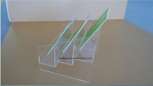 3 Ties Clear Acrylic Counter Book Display Shelf, Plexi Display Stands pictures & photos