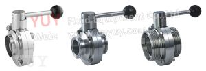 Food Grade Sanitary Stainless Steel Butterfly Valve Yd pictures & photos