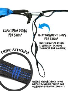 Carries Tree-Friendly Hammock Tree Straps Heavy Duty No-Stretch