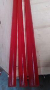 75-95shore a Red Polyurethane Rods, PU Rods, Polyurethane Bar, PU Bar, Plastic Bar pictures & photos