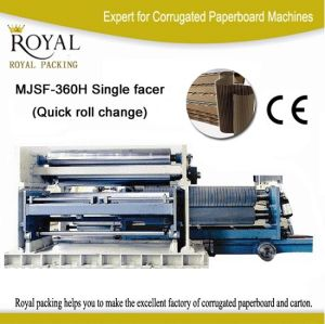 Corrugated Cardboard Machine Fast Change Roll Single Facer Mjsf-360h pictures & photos