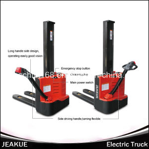 New Product 1.0t Single-Column Electric Stacker pictures & photos